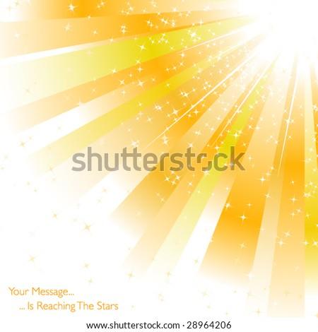 Rays of sunlight - stock vector
