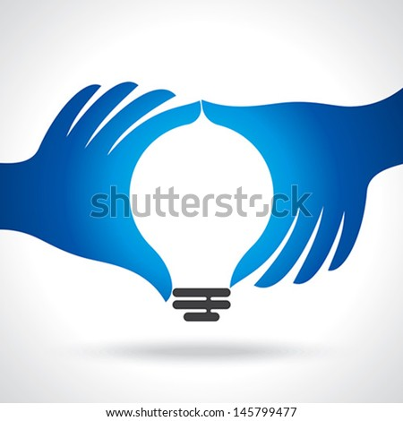 reach idea with human hand - stock vector