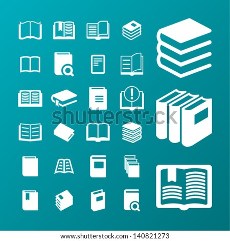 Read icons - stock vector