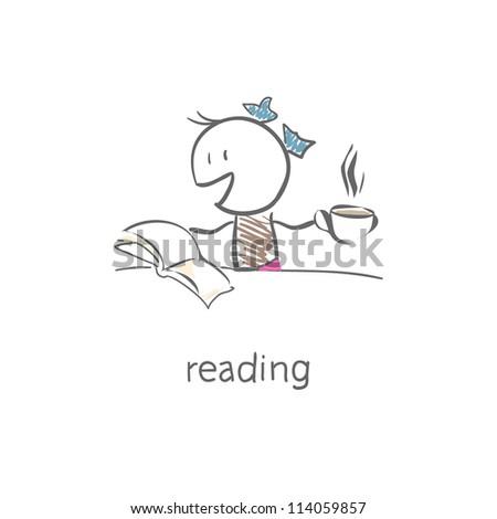 reader - stock vector