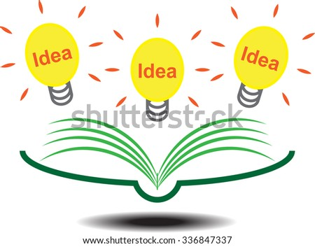 Reading a book which create idea - stock vector