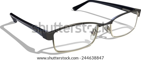 Reading Glasses. Layer separated EPS 10 with transparencies. - stock vector