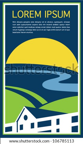 Real Estate Advertising Flyer - stock vector