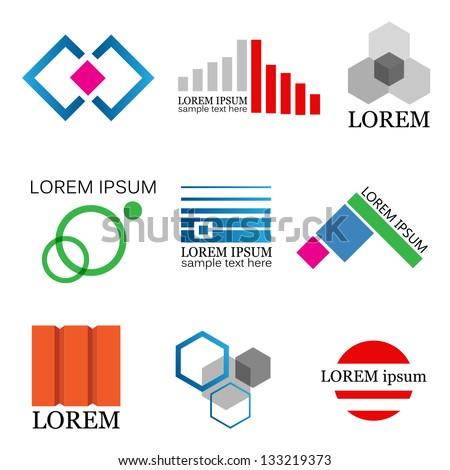 Real Estate And Business Icons - Isolated On White Background - Vector Illustration, Graphic Design Editable For Your Design. Real Estate Logo - stock vector