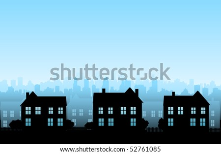 Real estate background - stock vector