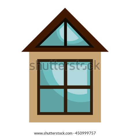 Real estate business isolated icon, vector illustration graphic design. - stock vector