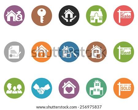 real estate button icons - stock vector