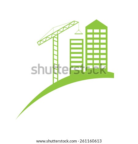 Real estate construction symbol logo template.  - stock vector