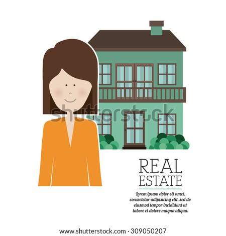 Real Estate digital design, vector illustration eps 10 - stock vector