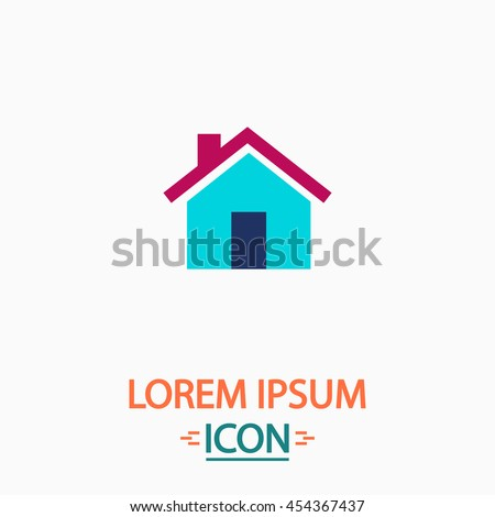 Real Estate Flat icon on white background. Simple vector illustration - stock vector