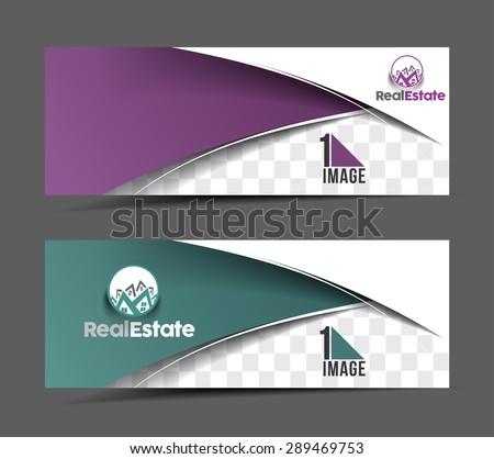 Real estate Header & Banner Design - stock vector