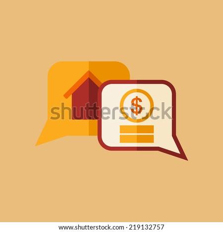 Real Estate Icon. - stock vector