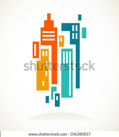real estate icon and element - stock vector