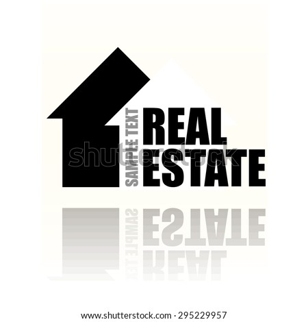 Real estate icon. illustration vector design.  - stock vector