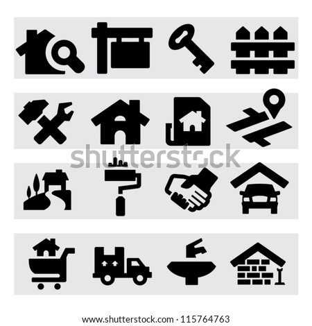 Real Estate Icons - stock vector