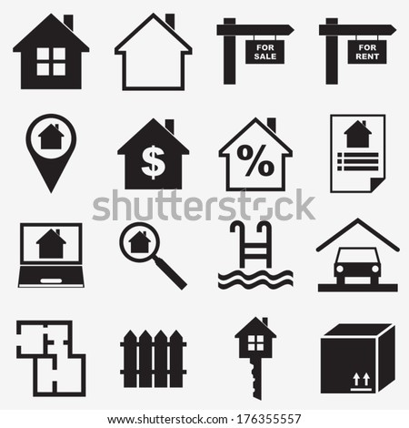 Real estate icons. Vector illustration - stock vector