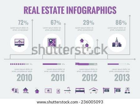 Real Estate Infographic Elements. - stock vector