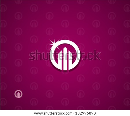 Real estate logo template - stock vector