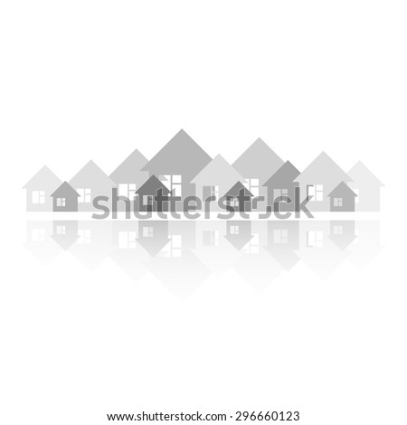 Real Estate logo. vector illustration logo for Real Estate company. simple icon. real estate design - stock vector