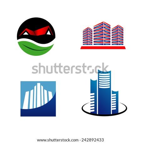 Real estate logos  - stock vector