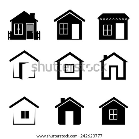 Real estate over white background, vector illustration. - stock vector