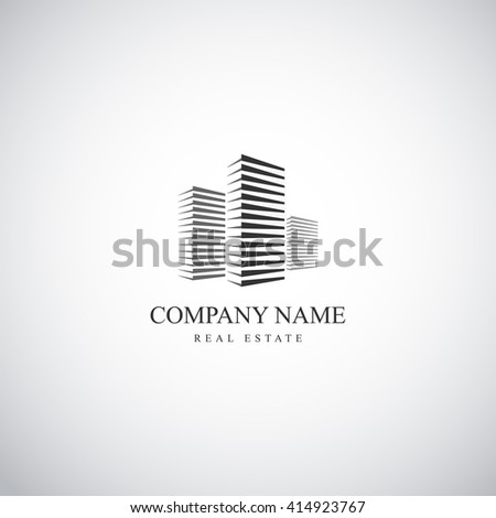 Real estate template logo - stock vector