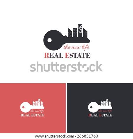 Real Estate Vector Icons, Logos, Sign, Symbol Template  - stock vector