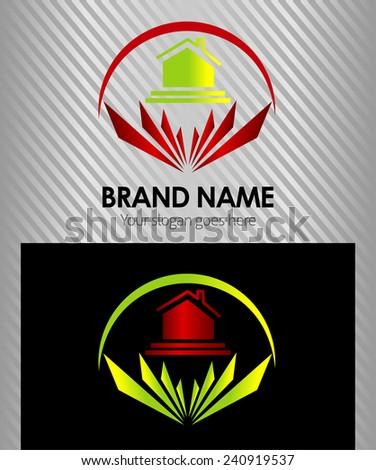 Real Estate vector logo design template - stock vector
