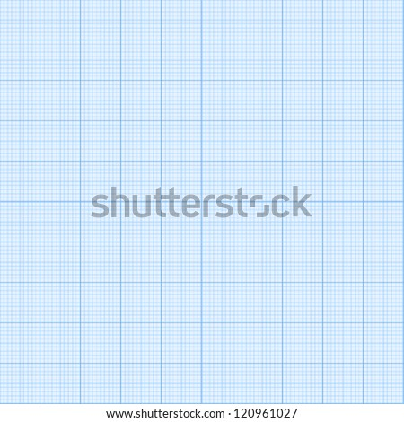 Real size vector millimeter engineering paper - stock vector
