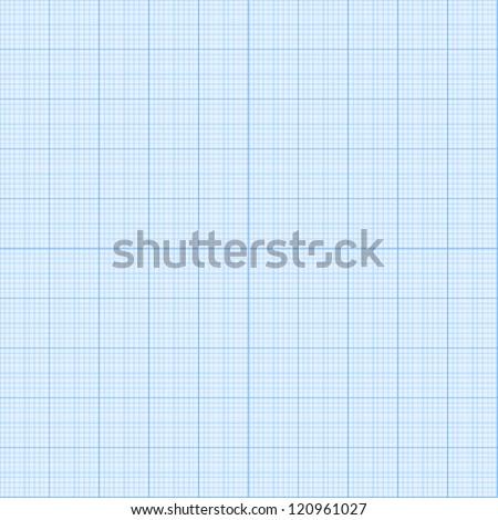 Real size vector millimeter engineering paper - stock vector
