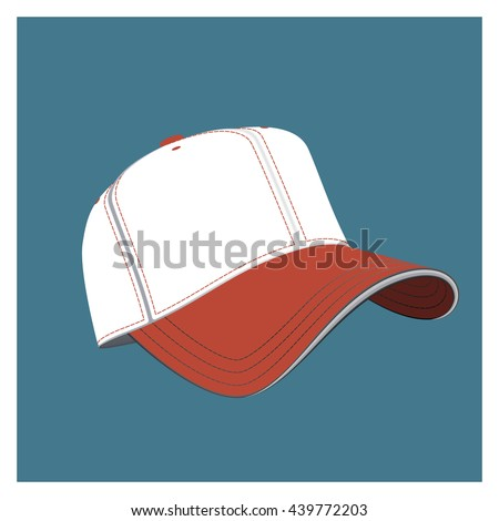 realistic baseball cap illustration  - stock vector