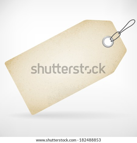 Realistic blank paper price label vector tag. isolated from background. layered. - stock vector