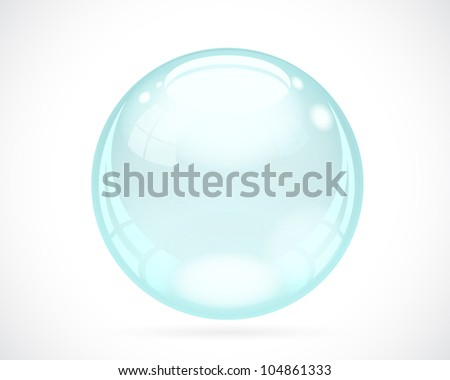 Realistic Bubble - stock vector