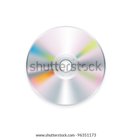 Realistic CD or DVD - stock vector
