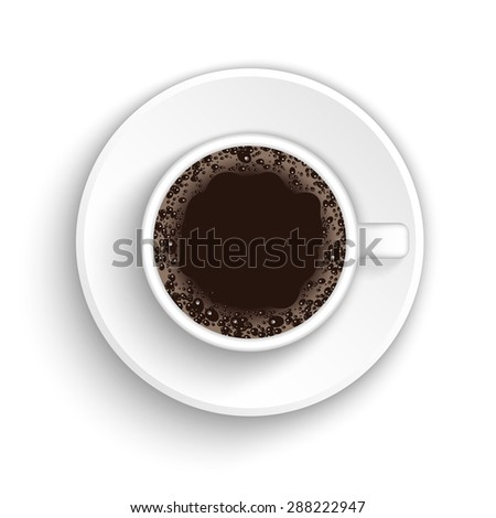 Realistic coffee cup vector - stock vector