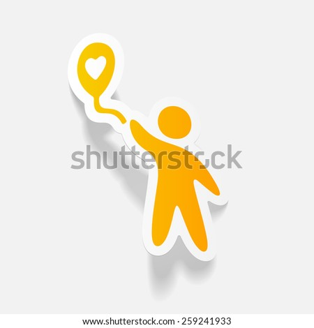 realistic design element: happiness people - stock vector