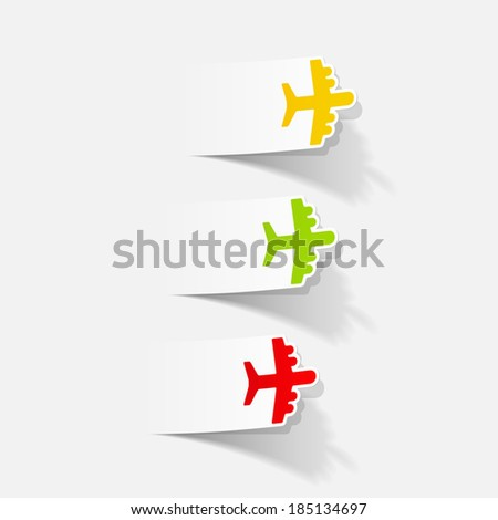 realistic design element: plane - stock vector