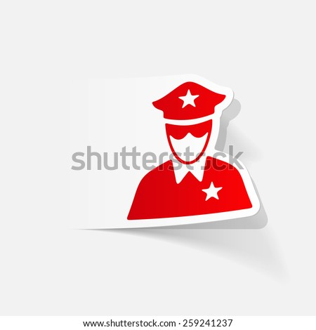 realistic design element. police officer - stock vector