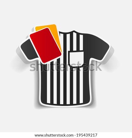 realistic design element: referee - stock vector