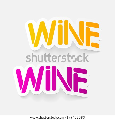 realistic design element: wine - stock vector