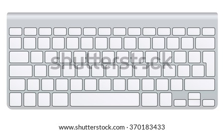 Realistic empty keyboard, vector - stock vector