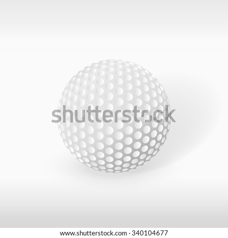 Realistic golf ball vector image for your design and illustration - stock vector