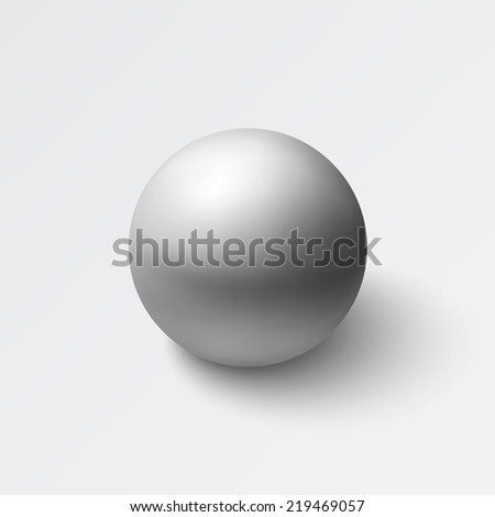 Realistic grey sphere. Vector illustration - stock vector