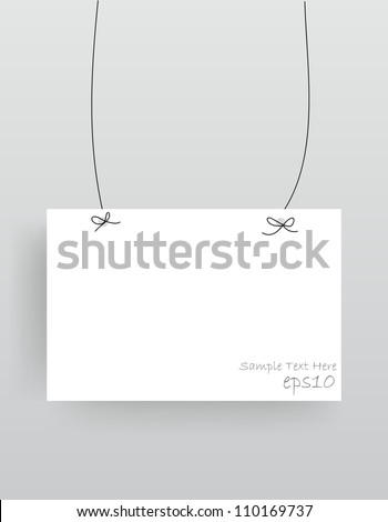 Realistic hanging empty advertisement canvas, panel, billboard, banner (Vector Eps10) - stock vector