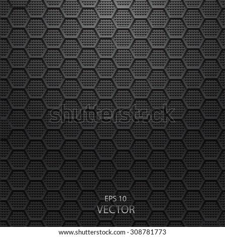 Realistic hexagonal grid background eps 10 vector - stock vector