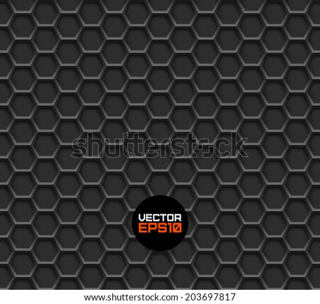 Realistic hexagonal grid background.Vector illustration. Seamless pattern. - stock vector