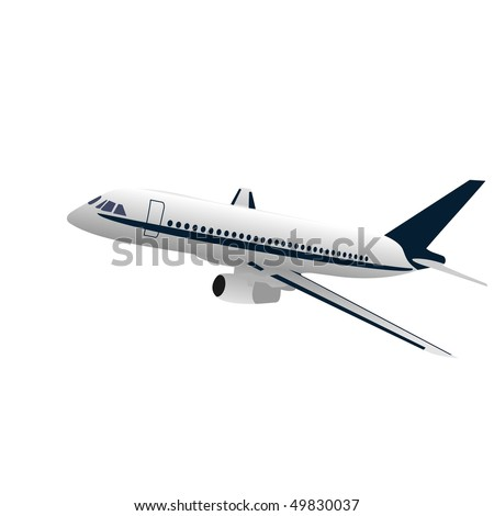 Realistic illustration aircraft - vector - stock vector