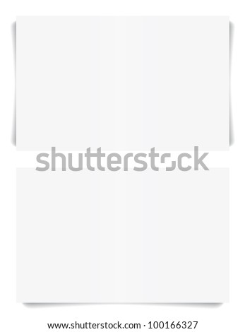 Realistic memo notes or business cards with shadow. Vector set. - stock vector