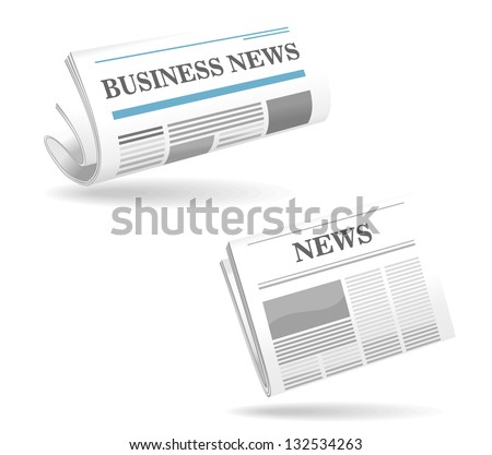 Realistic newspaper icons for web or another design. Jpeg (bitmap) version also available in gallery - stock vector