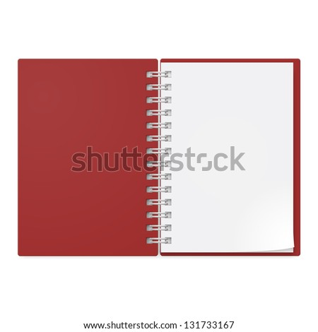 Realistic notebook. Illustration on white background design. - stock vector